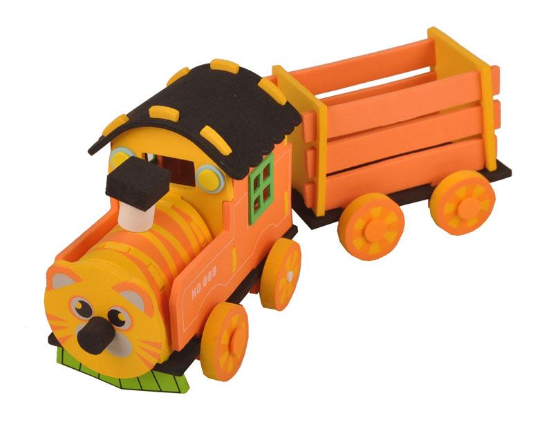 拼装积木猫式小火车