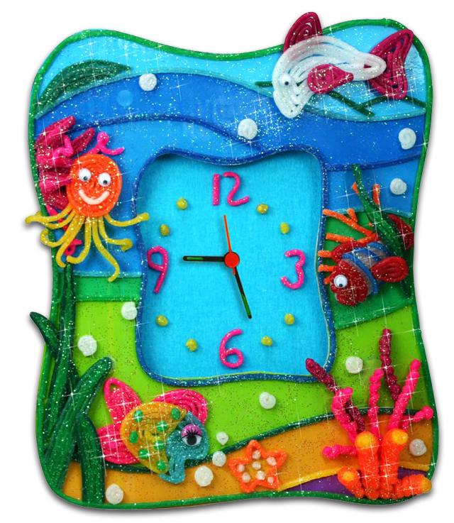 儿童手工益智玩具 手工diy钟表
