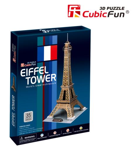 乐立方3d立体拼图《c044h埃菲尔铁塔(法国)》