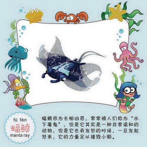 蝶鱼等10多个海洋动物的简笔画  森林世界:包括猴子,老虎,小熊猫