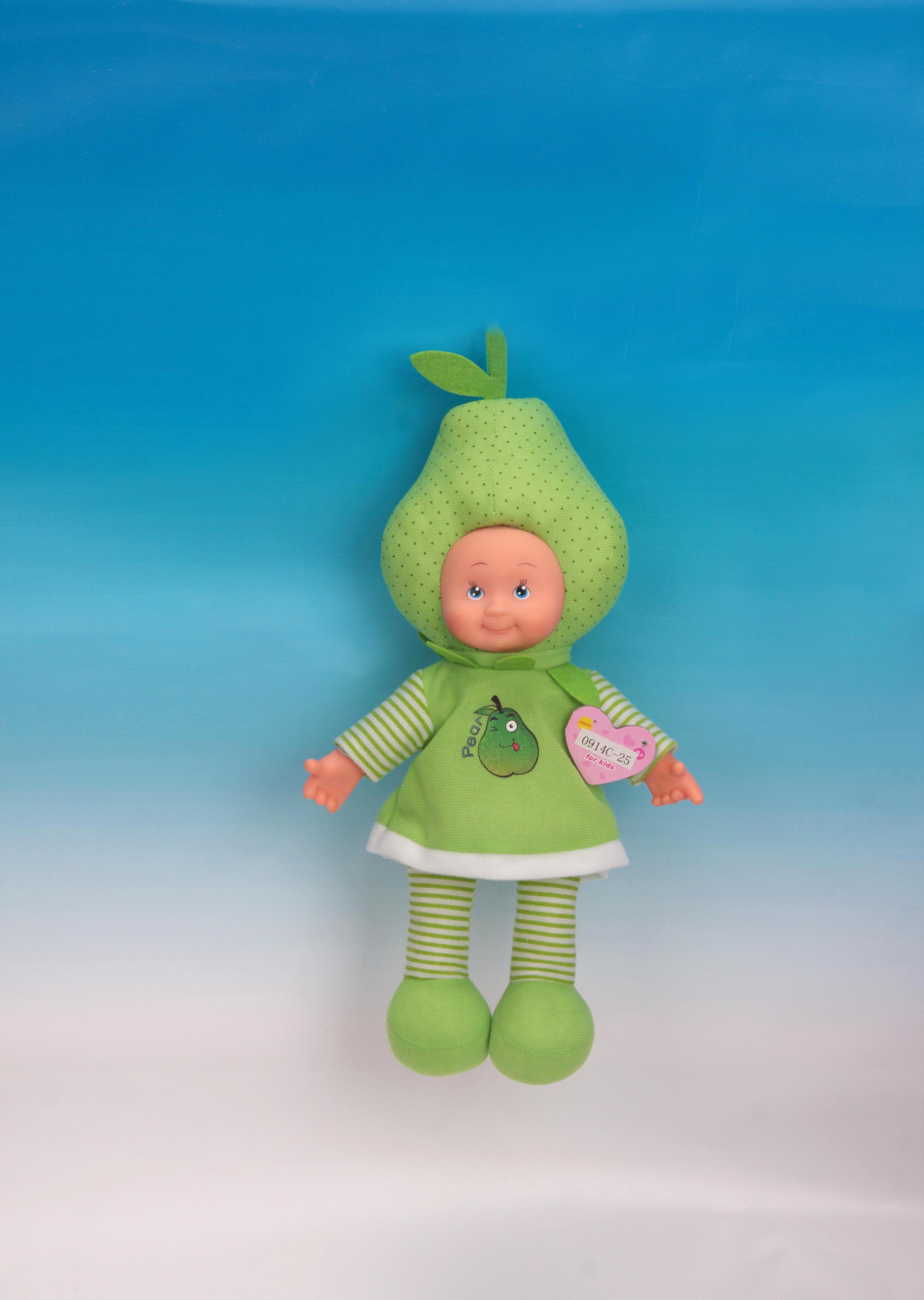 中国 音乐/14寸音乐水果娃娃盛达玩具厂