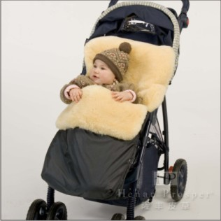 中国 焦作/皮毛推车婴儿睡袋焦作隆丰皮草企业有限公司