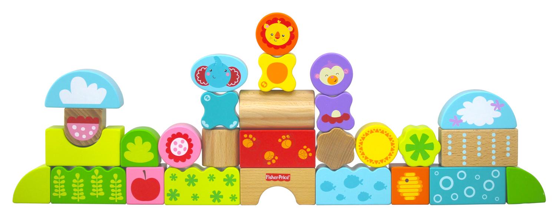 引导宝宝在玩耍中认识小动物和森林环境,与小伙伴合作搭建.